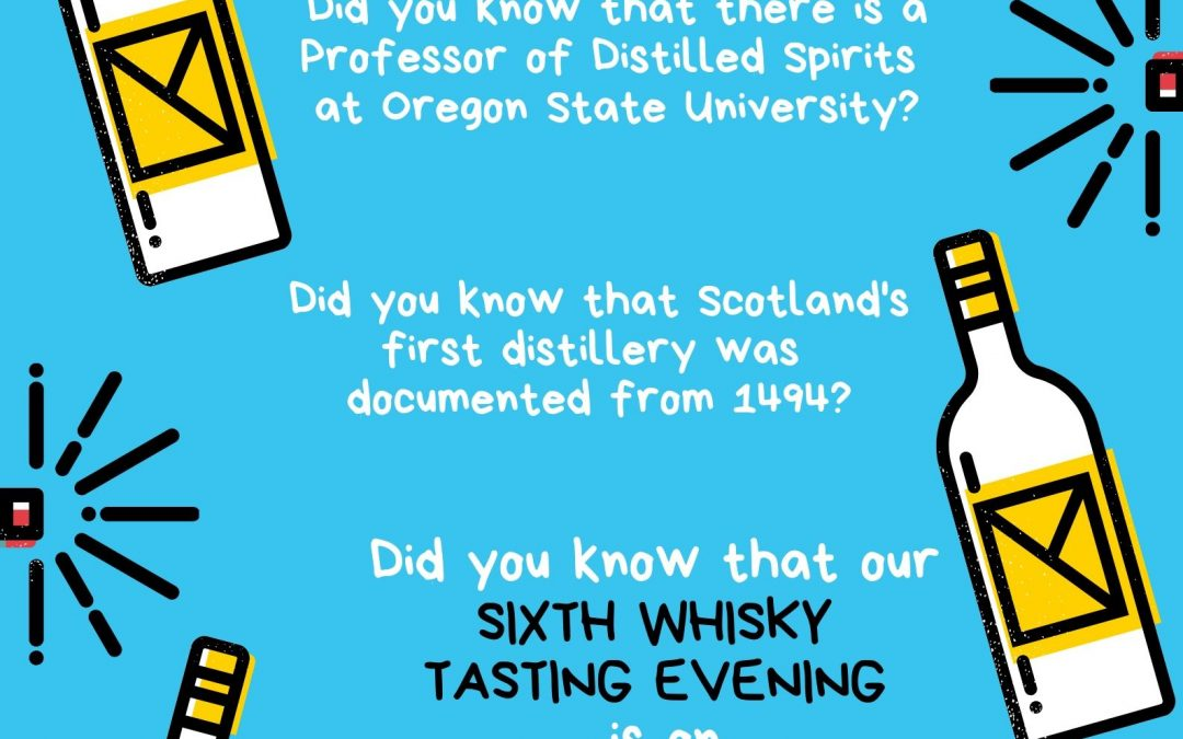 SAVE THE DATE – WHISKY TASTING EVENING